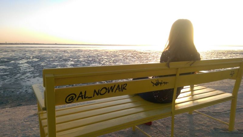 Yellow Benches @saudaljuwaiyan